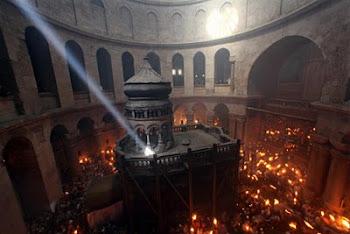 hermosa vista del Santo Sepulcro obtenida por Jim Hollander en Jerusálem