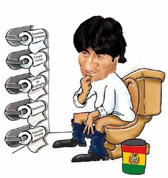 caricatura celebrada que sin nombrar al protagonista deja adivinar de quién se trata