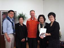 Kyungsung University + Kim Dae-Young (r) and John Lee