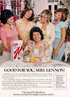 The Lennon Sisters and their mom Sis in a 1977 ad