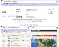 Estado del tiempo en CARACAS próximos 10 dias