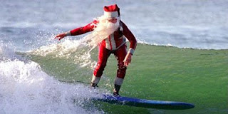 Christmas Santa On Beach