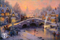 Thomas Kinkade Christmas Wallpaper