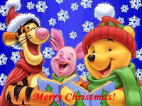 Winnie The Pooh Christmas Holiday Wallpaper