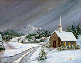 Christmas Church Scene