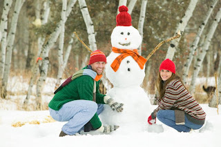 Winter Holiday Snowman Theme