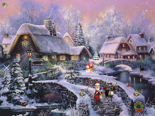 Animated Christmas Scenery Wallpaper