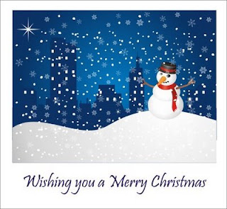snowman wishes greeting