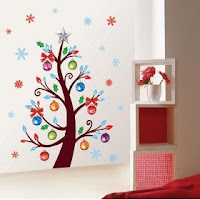 Christmas Tree Decor Mural Art Wall Paper