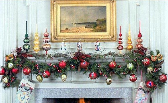Free Holiday Wallpapers Christmas Fireplace Mantel