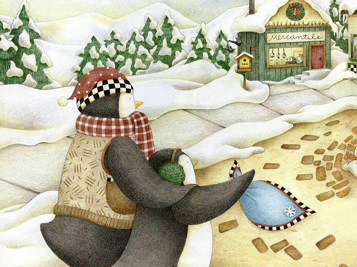 penguin wallpapers. Christmas Penguin Wallpapers