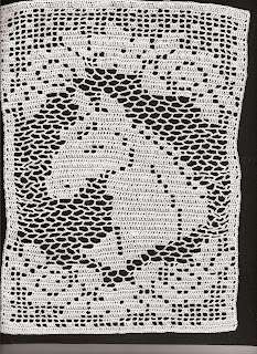 Filet Crochet Horse Afghan Pattern - Crochetville