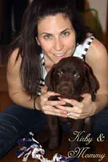 Chocolate Lab Puppy and Mommy: Kirby