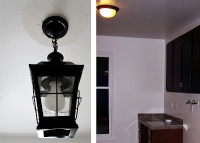 laundry room light idea