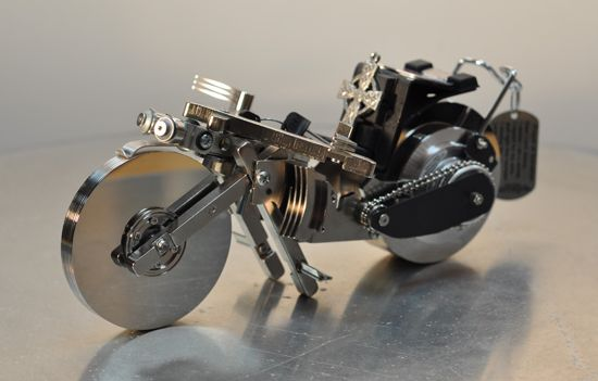 how to make a mini robot out of one caster