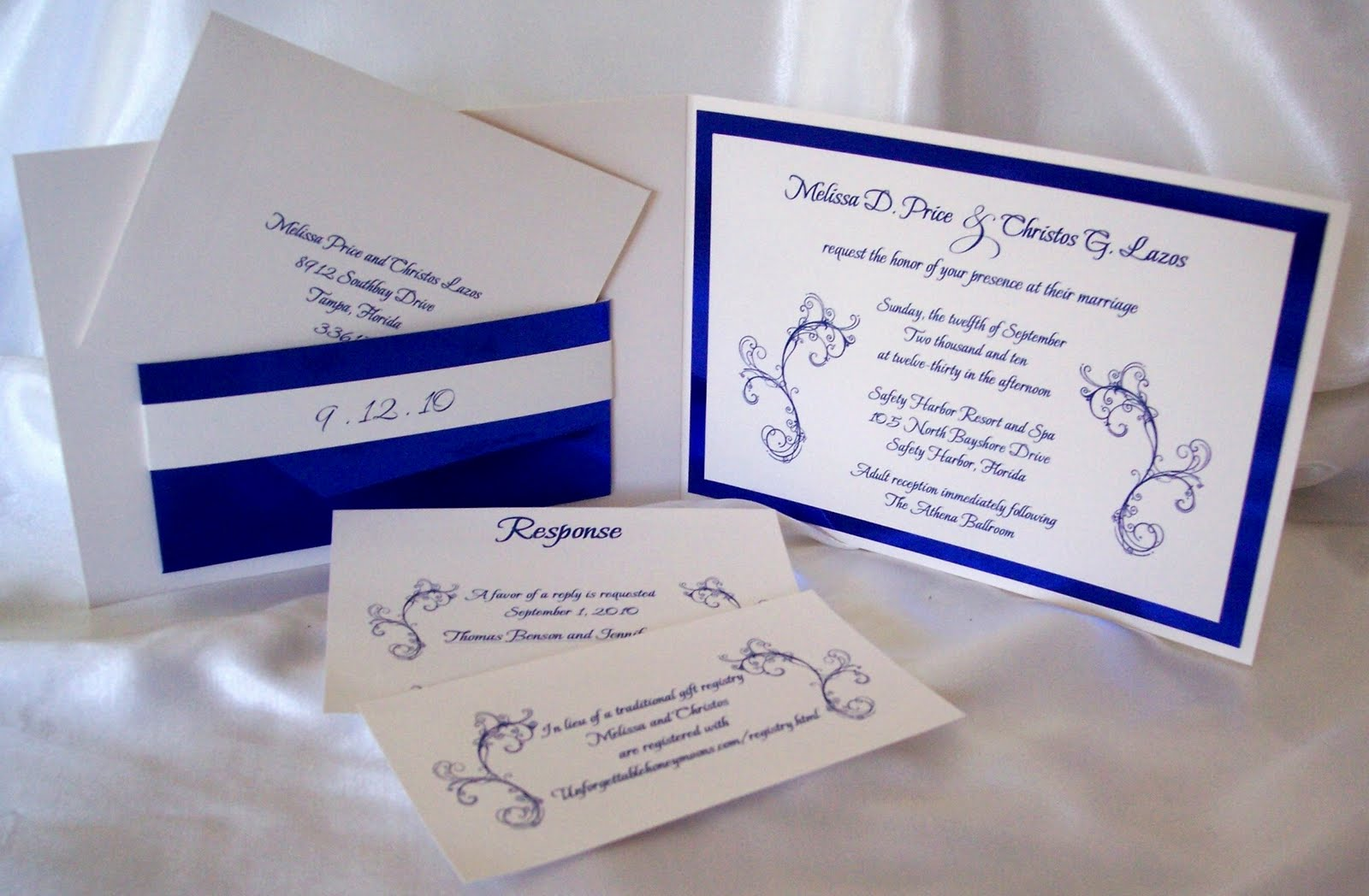 Designs by Ginny: Custom royal blue metallic pocketfold wedding ...