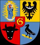 KORWIN en el escudo de la ciudad de Glogów, Baja Silesia