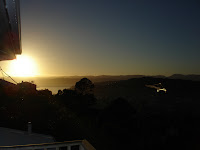 Sunrise from the balcony of the flat on ANZAC day