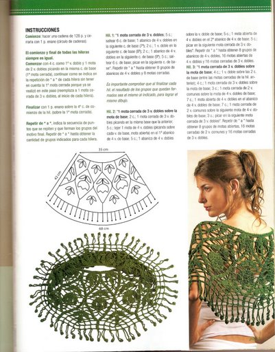 بونشو كروشية بالصور والباترون  Crochet_calados_03