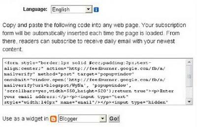 Créez une newsletter pour votre blog avec Feed Burner sur Blogger