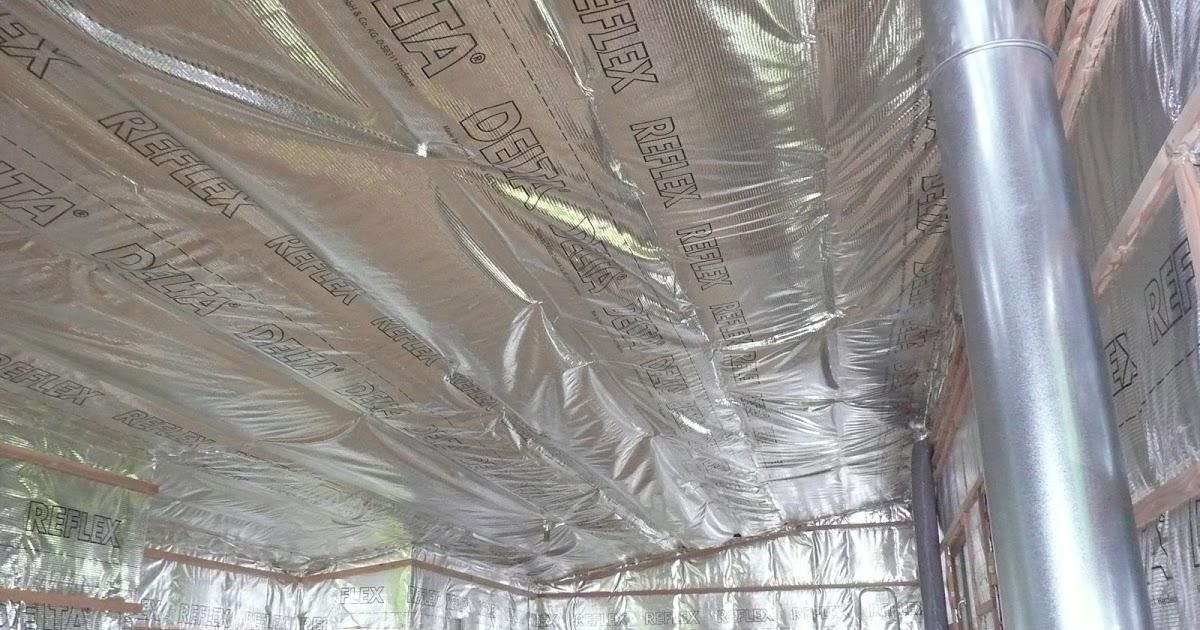 notre maison en bois pose du pare vapeur du plafond de l 39 tage. Black Bedroom Furniture Sets. Home Design Ideas