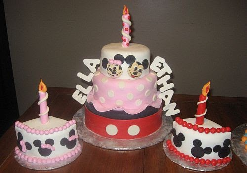 ... Company: Mickey And Minnie Mouse themed Birthday Cake for Twins