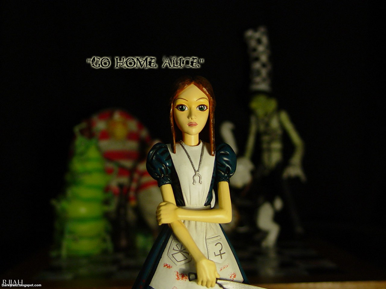 Go Home Alice | Dark Wallpaper Download