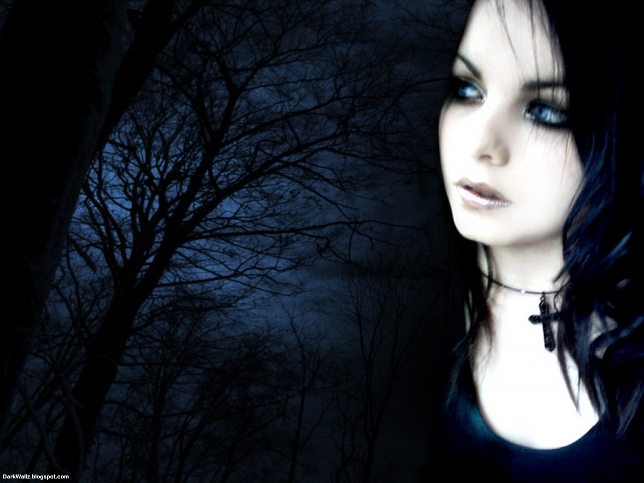 Dark Girl with background | Dark Wallpaper Download