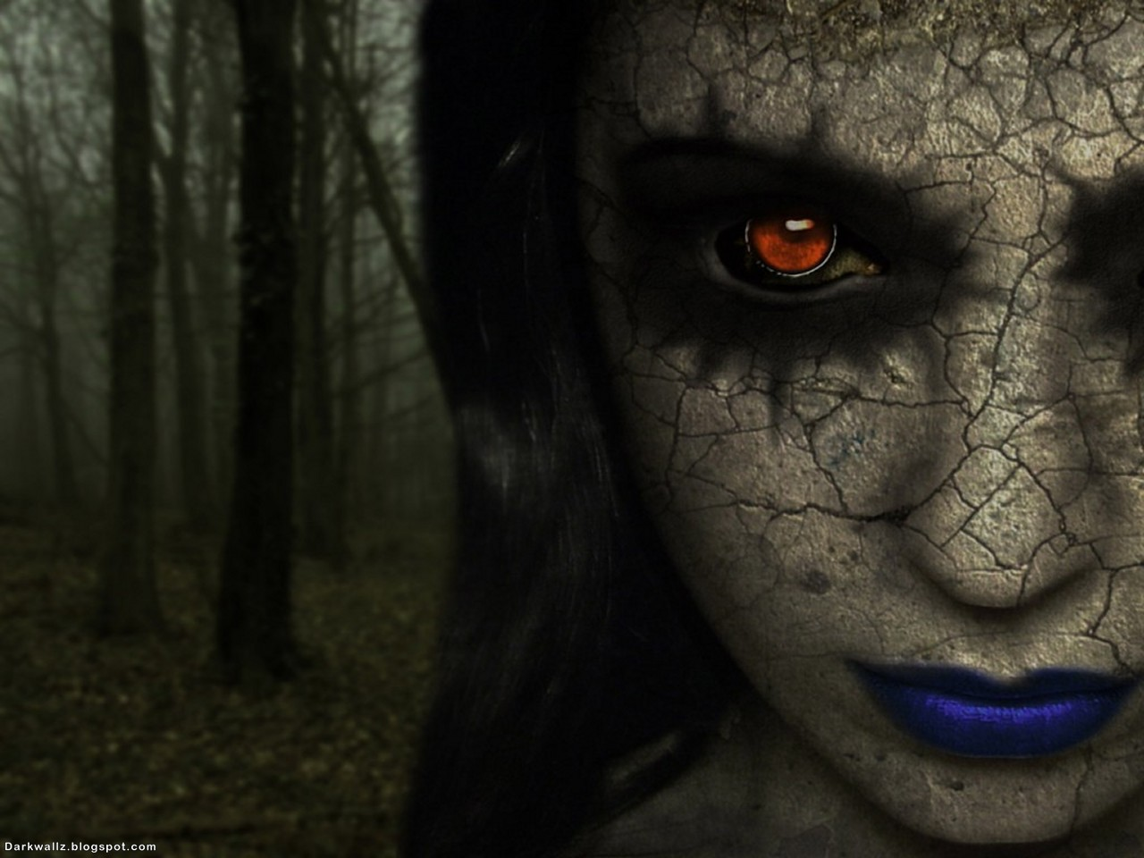 Gothic Girl In The Forest | Dark Wallpaper Download