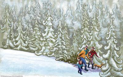 Abstract Christmas HD Desktop Wallpapers