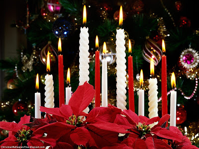 Christmas Candles HD Desktop Wallpapers