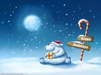 Christmas Polar Bear HD Wallpapers