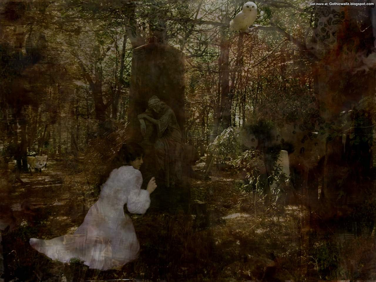 Gothic Wallpapers: Mourning-in-the-forest