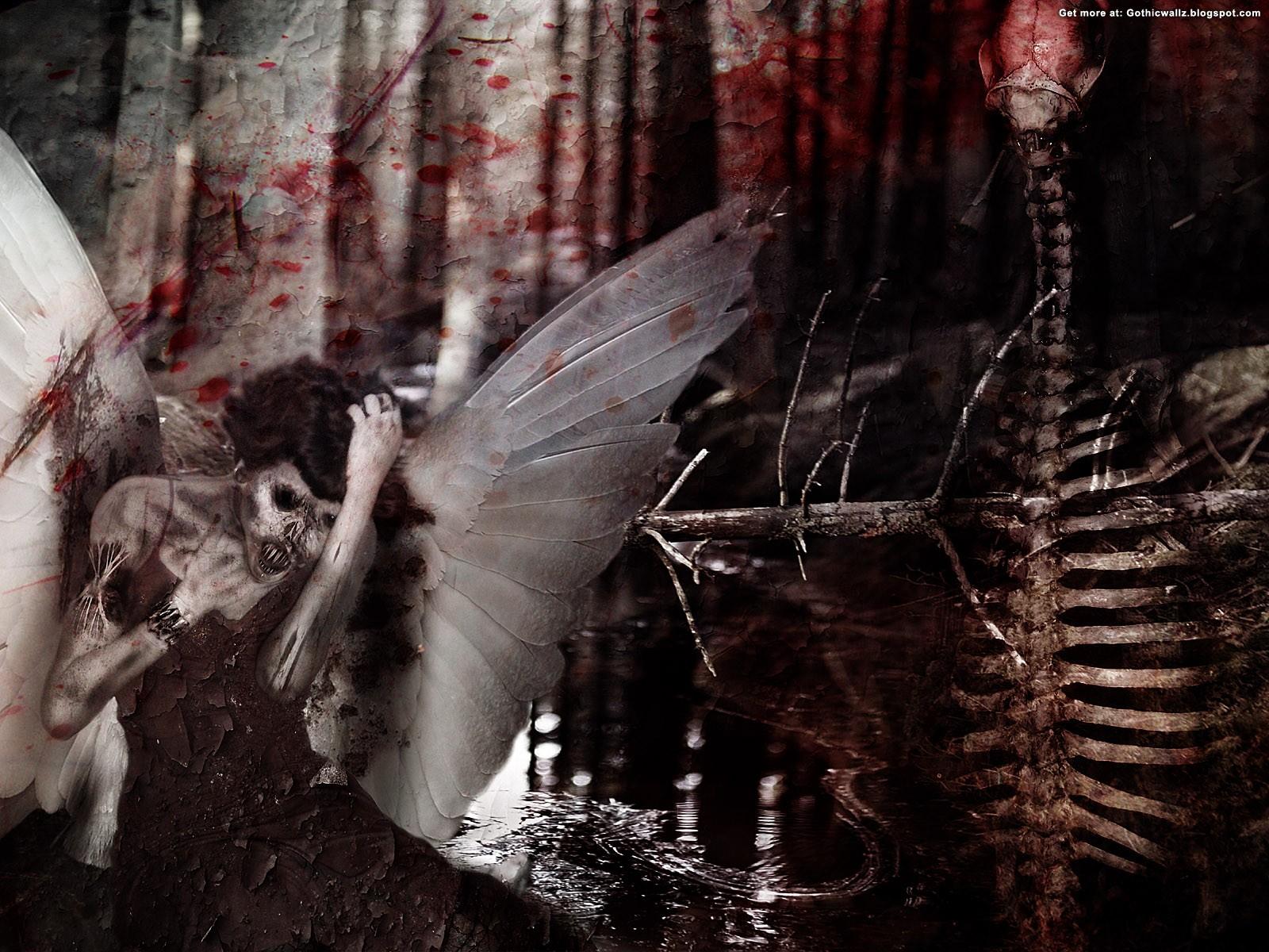 Forsaken Angel | Gothic Wallpaper Download