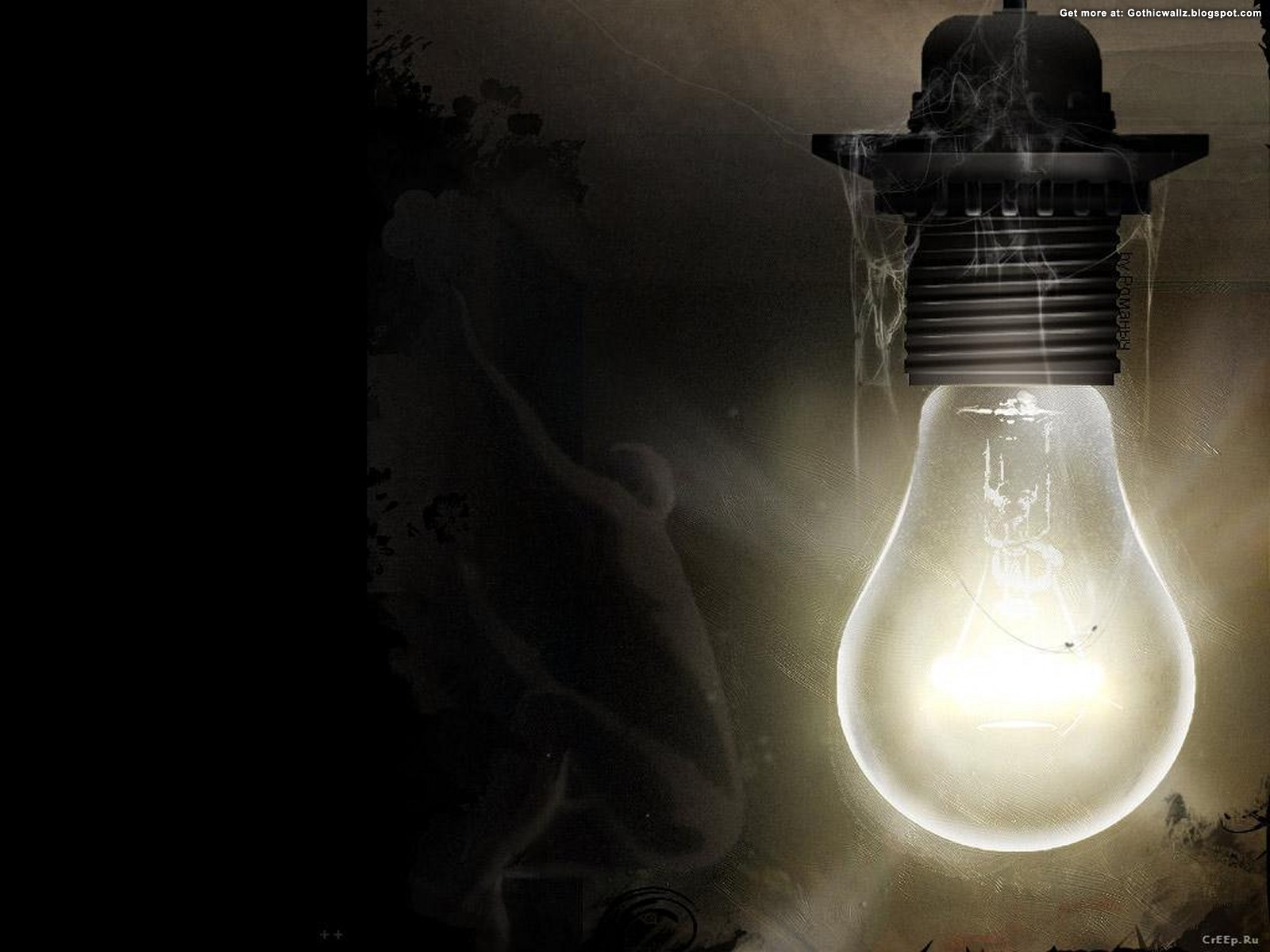 Light bulb | Gothic Wallpaper Download