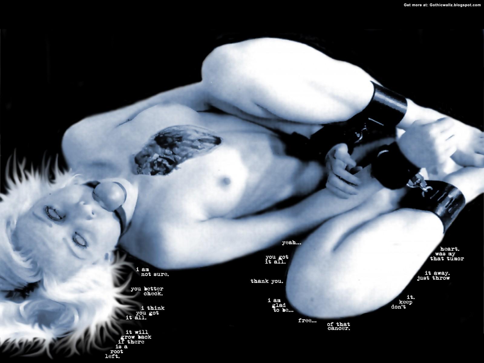Fettered Girl | Gothic Wallpaper Download
