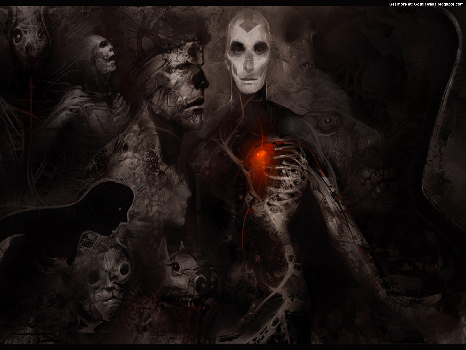 Faces Of Evil | Gothic Wallpaper Download