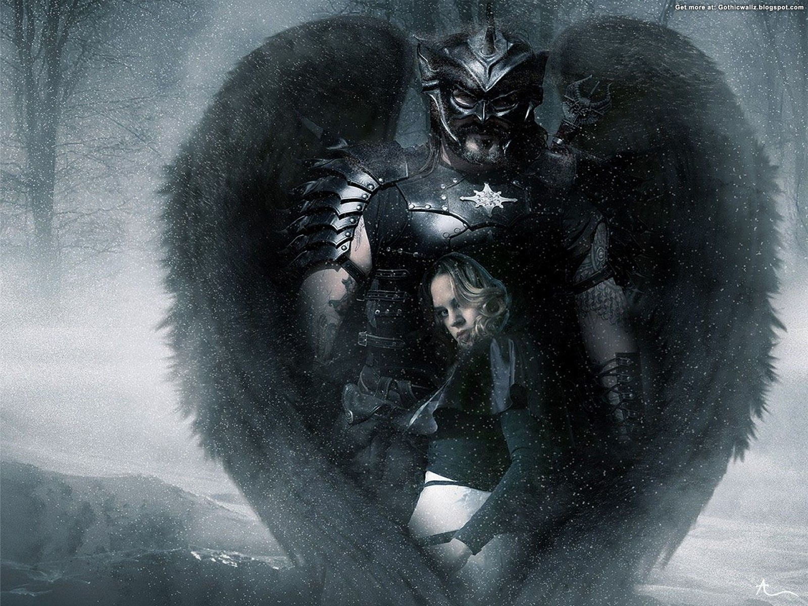 December 2011 angel background wallpapers - Gothic angel wallpaper ...