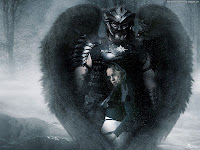 Dark Angel with Girl | Dark Gothic Wallpapers