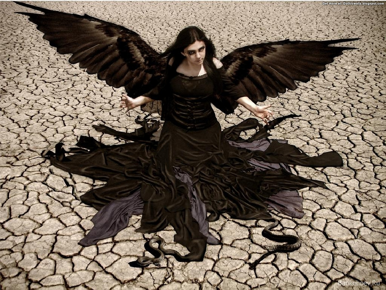 Goth Lady Angel | Gothic Wallpaper Download