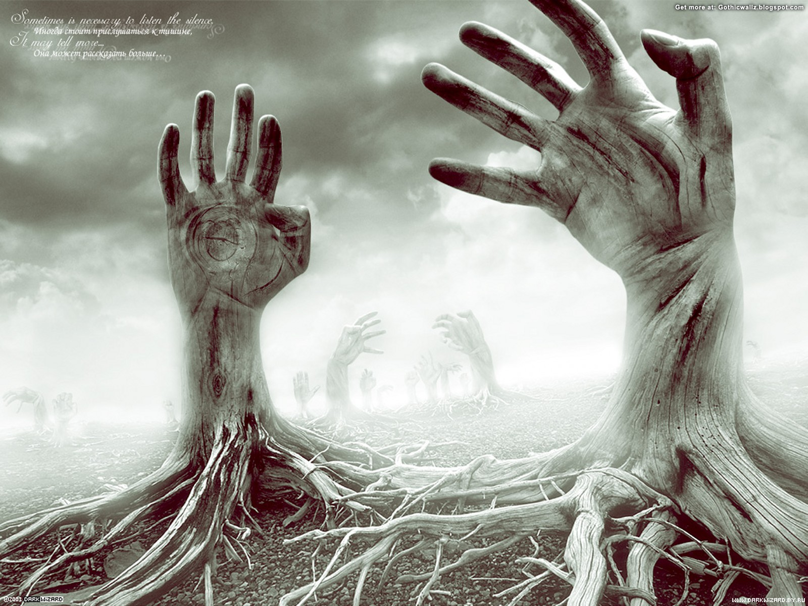 Seeking Help Hands | Gothic Wallpaper Download