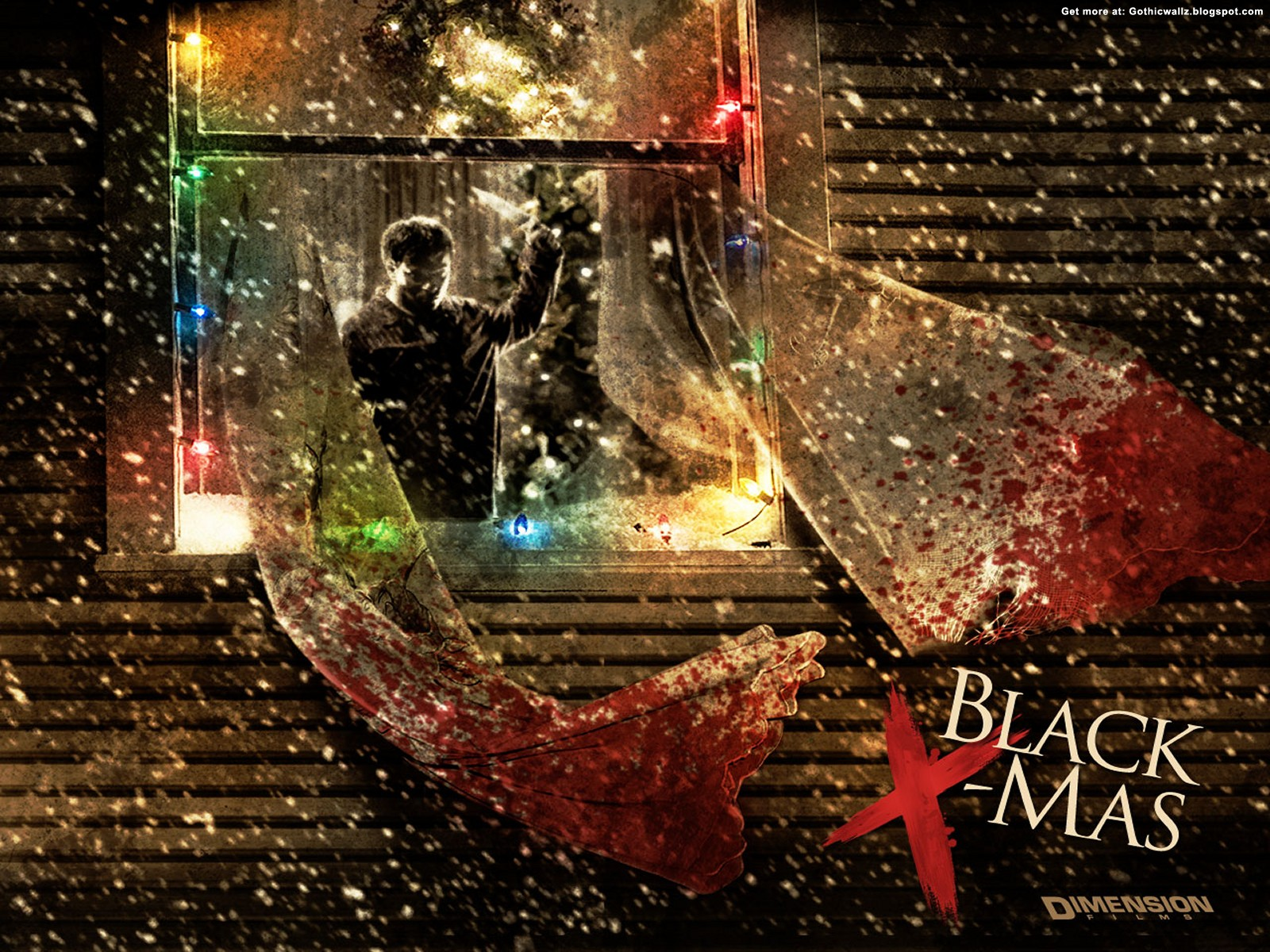 Black Christmas Wallpaper 2 | Gothic Wallpaper Download