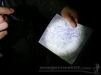 Led Lenser M1 - gedimmt zum Karten lesen