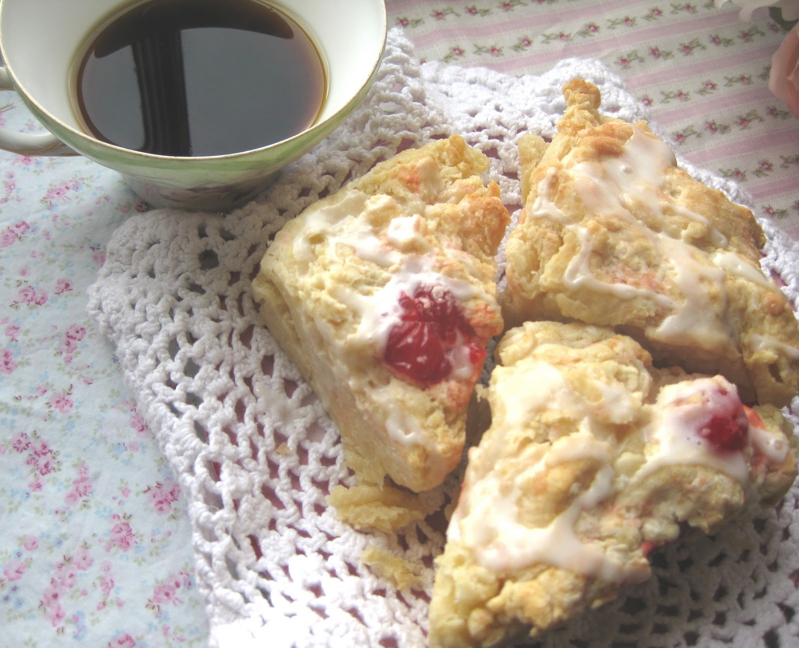 how to make cherry scones recipe