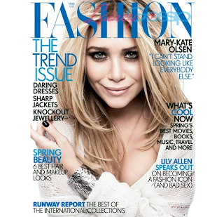 Mary-Kate Olsen On The Cover of Fashion Magazine