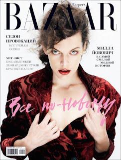Milla Jovovich in Harper's Bazaar Russia magazine
