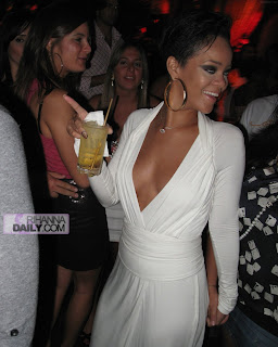 Rihanna XS Nightclub Cleavage