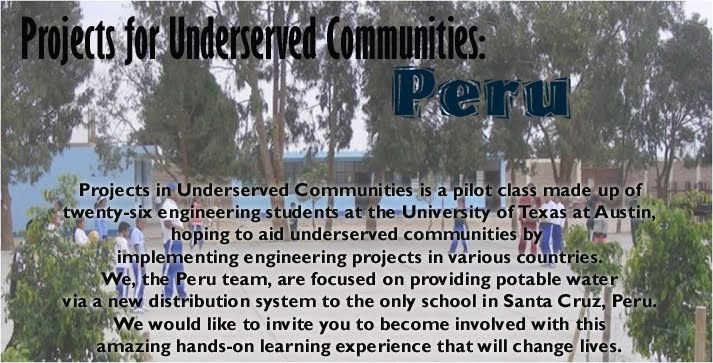 Projects for Underserved Communities: Peru