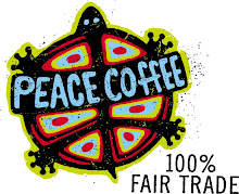PEACE COFFEE - 100% Fair Trade -Commit to Your Beans &amp; Your Bike!