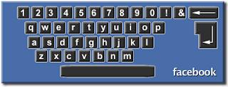 tombol, shortcut, facebook